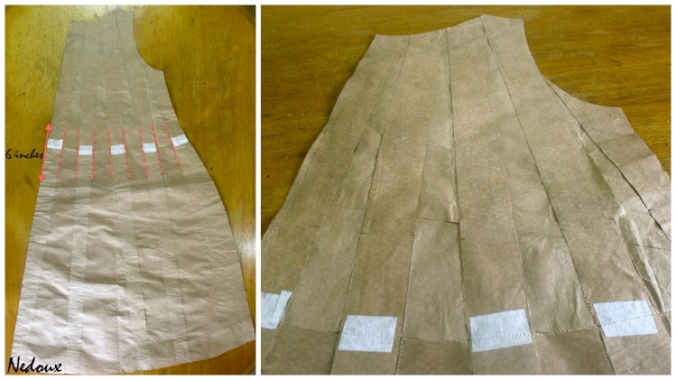 Tucks dress pattern