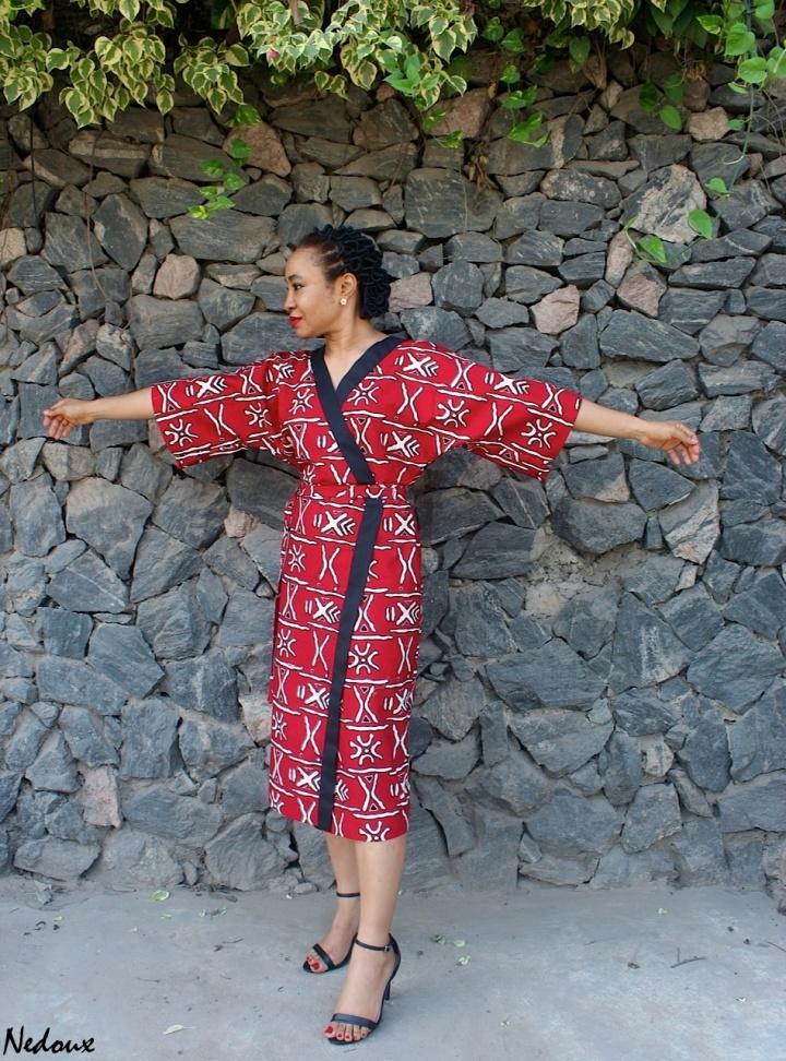 How to sew a kimono dress- 1