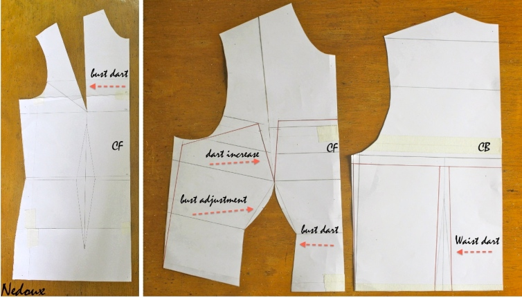 How to draft a bustier pattern princess seams 4