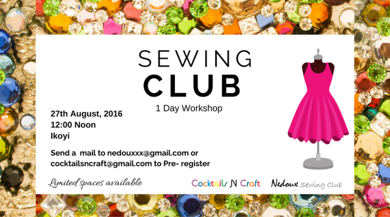 Nedoux Sewing Club CnC August 2016